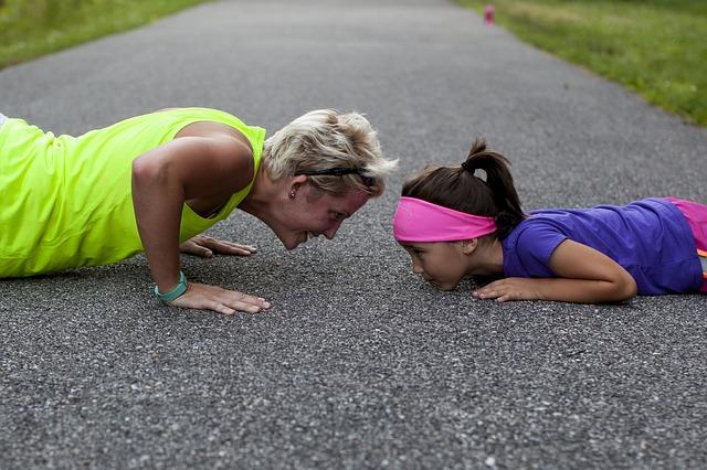 sportování i s dcerou