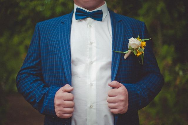 kostkovaný oblek