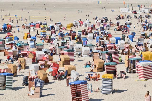 budky na pláži