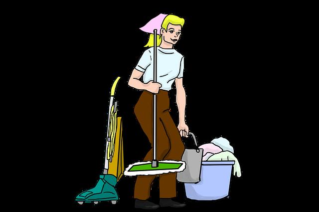 hospodyně při úklidu