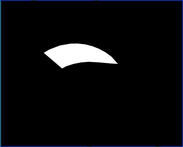 Postel-černobílý piktogram